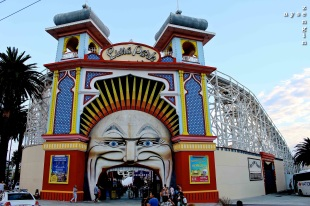 Luna Park in St Kilda (Sydney one looks way better!)