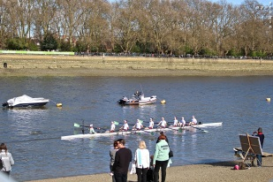 The Cambridge women getting into position